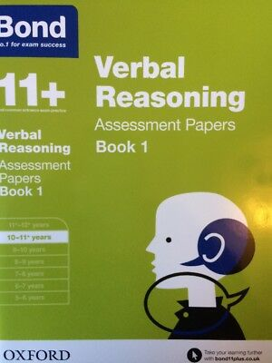 Bond 11+ Plus Verbal Reasoning Assessment Papers age 10-11 years Book 1