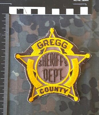 Stoffabzeichen Patch Gregg County Sheriff Department Police Polizei USA