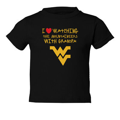 West Virginia Mountaineers I Love Watching With Grandpa Toddler T-Shirt