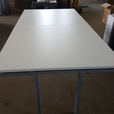 White Boardroom Conference meeting table. 2.4m x 1.2m
