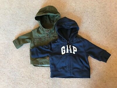 Boys hoodie and NEW coat - age 3-6 months - GAP - excellent condition