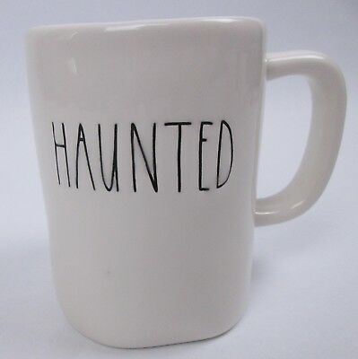 Rae Dunn Magenta Halloween Haunted Mug Coffee Cup Large Letter
