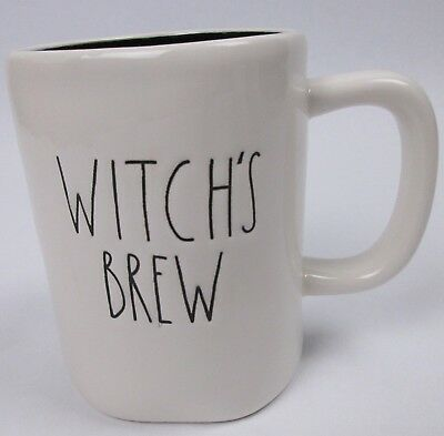 Rae Dunn Magenta Halloween Witchs Brew Mug Coffee Cup Large Letter
