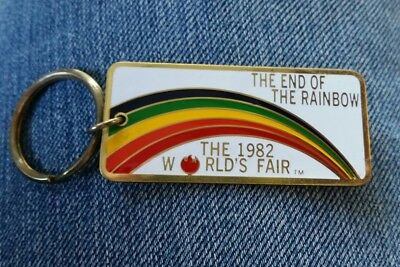 1982 WORLD'S FAIR Knoxville TN The End Of The Rainbow KEYCHAIN vintage