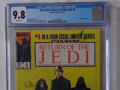 Star Wars: Return of the Jedi #4 (Marvel 1/84) - CGC 9.8 WHITE PAGES