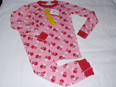 NWT Hanna Andersson Girls Pink Hearts Pajamas PJs Organic 130 Size 8 NEW