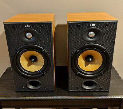 Bowers Wilkins BW DM601 S2 BookShelf Speakers In Cherry