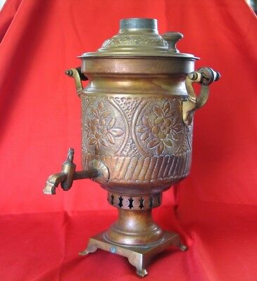 SAMOVAR Antique Brass Signed and in Very Good Condition