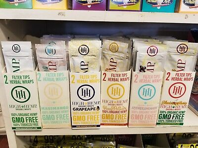 High Hemp COMBO DEAL 25 pouches(50 wraps total) Herbal Organic Wraps