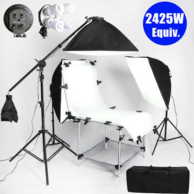 Photo Studio Continuous Lighting Kit Softbox Tent 2425W Daylight Shooting Table