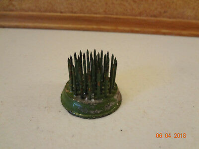 Vintage Rare Vogue No. 0 Green Chippy Paint Flower Holder Flower Frog