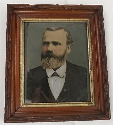 Rare: Oil on metal US 20th President James A Garfield Late 19th Century Unsigned