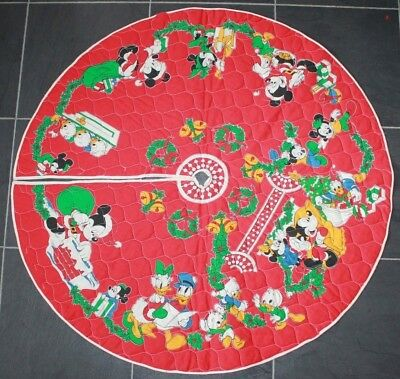 DISNEY MICKEY AND MINNIE NEPHEWS CHRISTMAS TREE SKIRT VINTAGE Decorate Cookies
