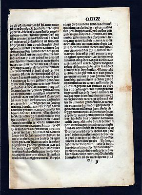 1499 Blatt CLIX Inkunabel Vita Christi Zwolle incunable Dutch Holland