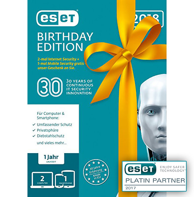 ESET Birthday Edition | 2 x Internet Security + 1 x ESET Mobile Security | ESD