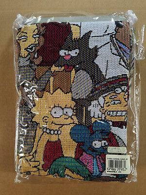 The Simpsons Woven Tapestry Throw Blanket Vintage 2001 Old Stock New in Package!