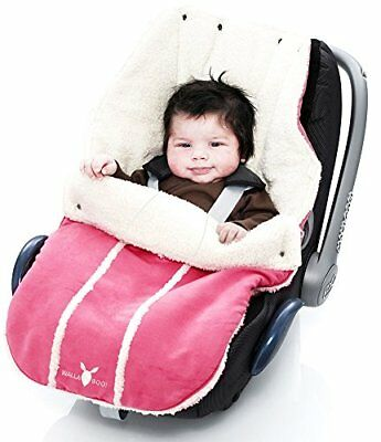 Wallaboo Footmuff Faux Suede and Soft Shearling - Newborn up to 12 Months, Sweet