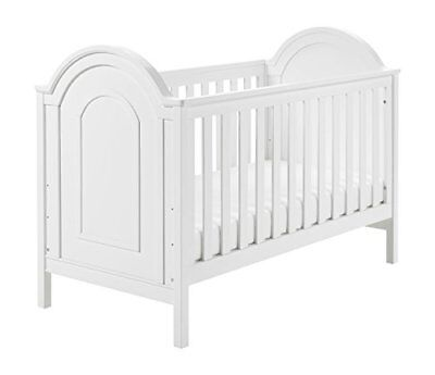 Babymore Albert Cot Bed - White