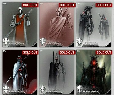 Topps Star Wars Card Trader The Droid General Concept Art Set With Award