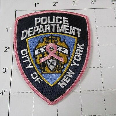 Nyc Police Department Cancer Awareness Pink Ribbon Breast New York City Patch