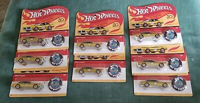 Lot Of 8 Eight Hot Wheels Originals 50th Anniversary 1968 Cougar Redlines