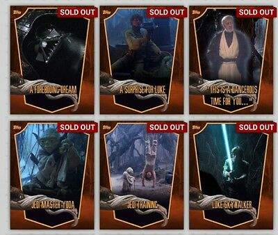 Topps Star Wars Card Trader Dagobah Locations Brown Set With Award