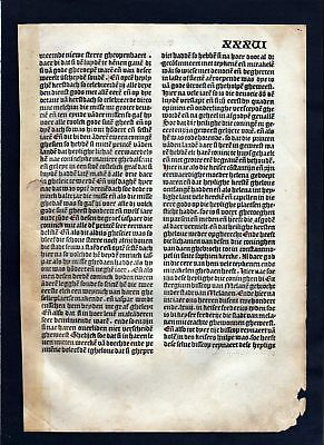 1499 Blatt XXXVI Inkunabel Vita Christi Zwolle incunable Dutch Holland