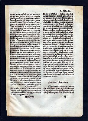 1499 Blatt CXVII Inkunabel Vita Christi Zwolle incunable Dutch Holland