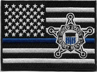 Secret Service Blue Line Flag Swat Tactical Subdued Federal Police Usss Ss Patch