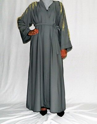 Black and Brown lace 2 in one abaya