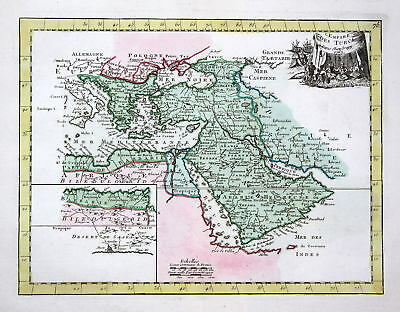 1767 Turkey Syria Lybanon Iraq Iran Karte map Kupferstich antique print L 159551
