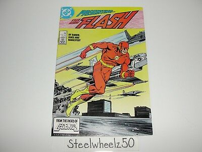 Flash #1 Comic DC 1987 2nd Series Wally Wet Flash Stories Begin Mike Baron Guice