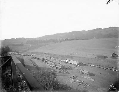 Contra Costa County CA: SAN PABLO DAM CONSTRUCTION 1919 - 8x10 Glass Negative