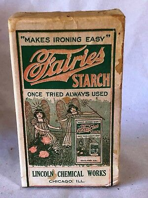 Vintage Fairies Starch Box with original content