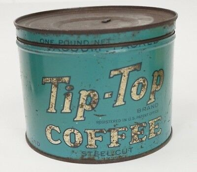 Vintage 1930's Tip Top Coffee Tin Advertising Collectible
