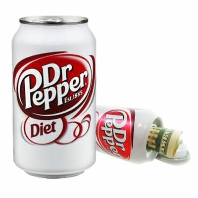 Diet Dr Pepper 12oz Soda Can Diversion Safe Stash Secret Container Hidden