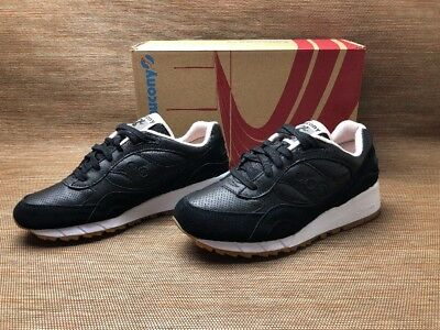 online store 1e9ca 9cac9 SAUCONY SHADOW 6000 HT S70349-1 Black Leather White Tan Running Brand New