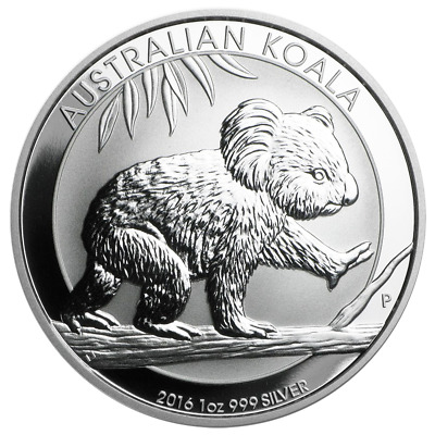 2016-P $1 Silver Australian Koala 1 oz Brilliant Uncirculated