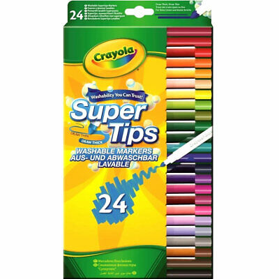 Crayola Supertips 24 Washable Markers | Kids Art Craft | Fast & Free Delivery
