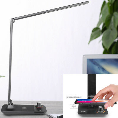 LE LED Desk Lamp, Dimmable Office Lamp with USB Charging Port, Wireless charger