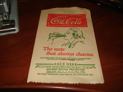 Authentic COKE 1932 COCA COLA NO-DRIP COMPANY BOTTLE PROTECTOR PAPER SLEEVE USA