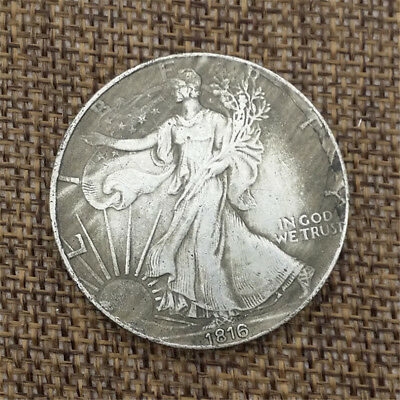1816 Retro 1oz Silver One Dollar Coin  Statue of Liberty American Eagle Coins