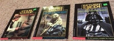Set of 3 Star Wars Posters Book from Scholastic from 1997