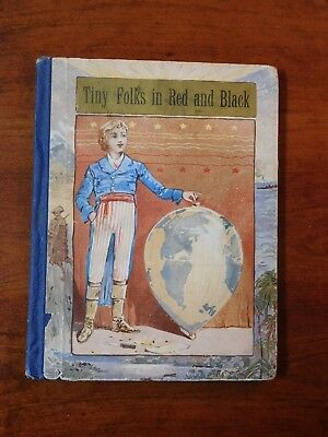 1888 Antique 1st Edition Children's Book - Tiny Folks In Red And Black - Ants
