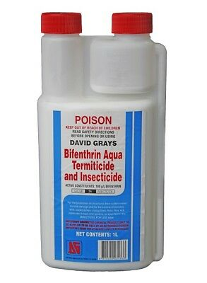 Bifenthrin Termite & Insect icide Aqua 1L Safer Water Based Spray Ants Spiders