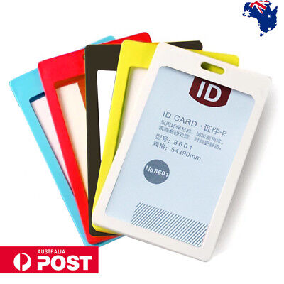 ID Card Holder Candy Colours Cards Case Business Work Badge Holder Au Post