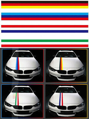2.95in Wide  3Colors Flag Stripe Body Hood Car Sticker Decal Exterior Decoration