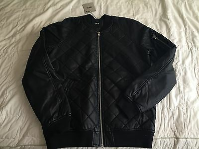 ASOS Quilted Bomber Jacket Black size Small