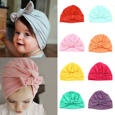 Baby kids Knot Turban Headband Headwrap Hats Head Bands Indian Hat Bandanas Cute