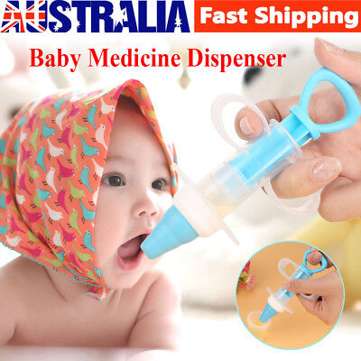 Silicone Baby Medicine Dispenser Soft Tip Liquid Medicine Syringe Dropper Feeder